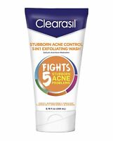 Clearasil Stubborn Acne Control 5in1 Exfoliating Wash, 6.78 oz.