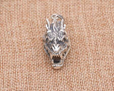 925 Sterling Silver dragon  tag  charm pendant jewelry P1494