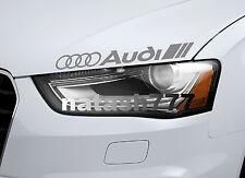 AUDI Vinyl Decal Sticker Performance Sport Car logo SILVER