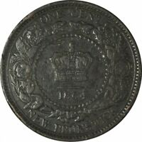1864 New Brunswick Large Cent KM6 - Very Nice High Grade Circ! -d186sut2