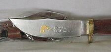Ducks Unlimited Hunting Knife with Sheath Wood Handle Hickory New in Box
