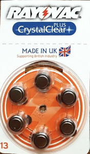 60 x Rayovac Crystal Clear Plus Advanced Hearing Aid Batteries Size 13 PR48 UK