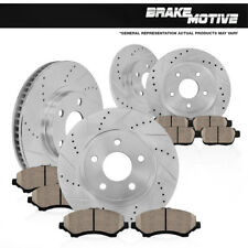 FRONT+REAR BRAKE ROTORS +CERAMIC PADS Fit 2002 2003 2004 2005 2006 Nissan Altima