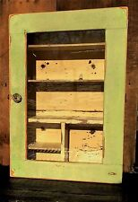 Antique French Country Folk Art Shab Chic Farmhouse Bathroom Medicine Cabinet