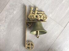 🇺🇸 Rarität Harley Davidson alte antike massive Händler Laden Metall Tür Glocke