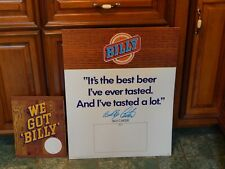 Billy Beer [LOT of 2] Point of Sale(POS) Promo ~SIGNS~ '70s Falls City Brewery