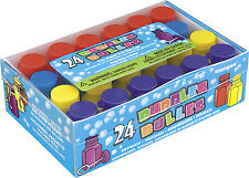 24 Assorted Colour Party Bubbles - Party Bag Fillers - Pinata Toy