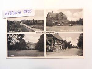 AK Ansichtskarte um 1935 Burgdorf, Mehrbild, Gesamtansicht, Schloß, Dorfstraße