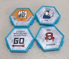 U BUILD MONOPOLY GAME REPLACEMENT 4 PIECE  FREE PARKING -JAIL-GO-IN JAIL
