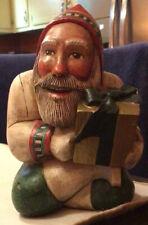 Leo & Marilyn Smith Folk Art Santa with Gift 5� - Especially For You Ltd Rare
