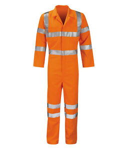 Hi Vis Hi Visibility Rail Spec Coverall - Hi Viz Orange - PCRTBS