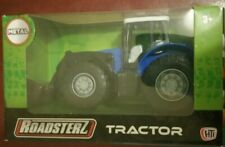 Blue Metal Toy Tractor in Box