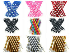 12 Tall Candles & Holders 10cm Birthday Party Cake Topper Decoration Pick