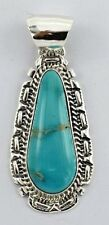 Navajo Handmade Sterling Silver Kingman Pendant - Augustine Largo