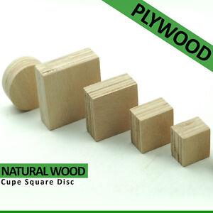 Wooden Square Round Cube Discs Craft Blocks Creative Toy Home Decor Eco Bricks