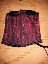 Underbust red gothic corset. Stringivita dark