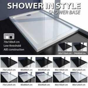 vidaXL ABS Shower Base Tray Tile Rectangular/Square White/Black Multi Sizes