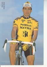 CYCLISME carte cycliste JOSE LUIS DIAZ DIAZ équipe PUERTAS MAVISA 1992