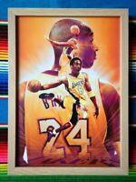 ✺Framed✺ KOBE BRYANT LA Lakers NBA Basketball Poster - 62cm x 44.5cm x 3cm