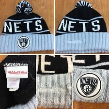 Mitchell And Ness Brooklyn Nets Beanie Ski Cap One Size Fits All~FREE SHIPPING!!