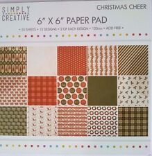 Simply Creative 6x6 Paper Pad  Christmas Cheer Card Making Scrapbooking Planner