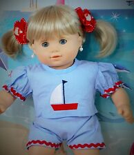 DOLL AMERICAN GIRL BITTY TWINS + BABY DRESS EARRINGS CLOTHES ACCESSORIES