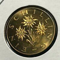1964 AUSTRIA ONE SCHILLING  BRILLIANT UNCIRCULATED COIN