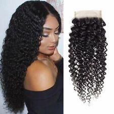 Brazilian Kinky Curly Wave Closure 4x4 Free Part Human Hair Lace Closure 12''