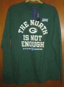 NFL FANATICS 2019 GREEN BAY PACKERS NFC Division Champions T- Shirt Large NWT