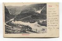 Stalheimskleven, Norway - 1908 used postcard, sent to England