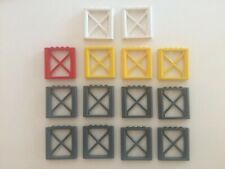 LEGO LOT OF 14 1X6X5 SUPPORT GIRDERS WALLS #64448 DARK GREY WHITE YELLOW RED