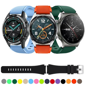For Huawei Watch GT 2 46MM Silicone Fitness Replacement Wrist Strap Band 22mm UK