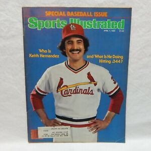 SPORTS ILLUSTRATED APRIL 7, 1980 KEITH HERNANDEZ ST. LOUIS CARDINALS
