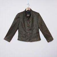 Stitches Australia Womens Size 12 Brown Button Up Jacket
