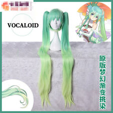 2017 Vocaloid Hatsune Miku Racing Suits Cosplay Wig Green Ponytails Free Ship