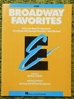 Broadway Favorites (Flute) - Solos & Band Arrangements 11 Songs Hal Leonard 1998