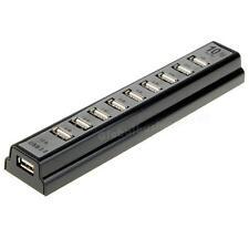 10 Port USB 2 Hub Multi Outlet Power Strip Type JMHG