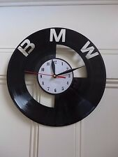 BMW logo design vinyl record clock home decor art gift office playroom hobby A-1