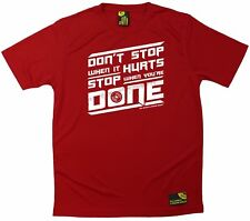 Sex Weights and Protein Shakes Dont Stop When It Hurts Dry Fit Sports T-SHIRT