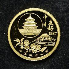 1987 China 1/20 -Oz Gold Sino-Japanese Friendship (cn5699)