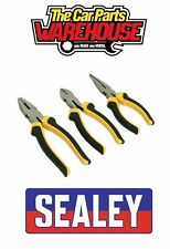 Sealey S0645 Comfort Grip Pliers Set 3pc THREE PIECE KIT
