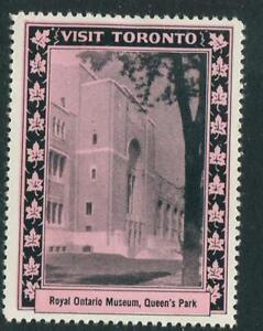 Visit Toronto Royal Ontario Museum Queens Park Reklamemarke Poster Stamp