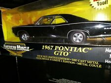 American Muscle 1967 Pontiac GTO Starlight Black 1:18 Ertl American Muscle 33064