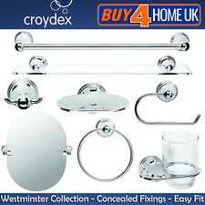 Croydex Westminster Chrome Wall Mounted Bathroom Accessories Concealed Fixings