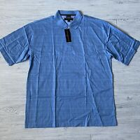 New Tommy Hilfiger Shirt Polo Short Sleeve Mens Size XL blue