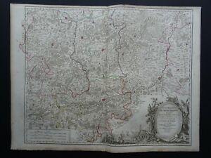 1790 Vaugondy Atlas Universel map  SOUTHERN BRABANT - BELGIUM - Duche de Brabant
