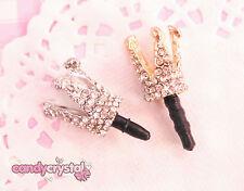 Silver OR Gold Princess Crown Dustplug Headphone Jack Charm - UK SELLER