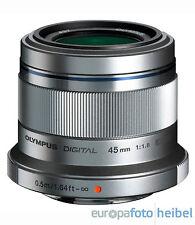 Olympus M. Zuiko Digital 1,8 / 45mm Objektiv silber für MFT Olympus Panasonic