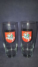LIETUVA-LITHUANIA BEER  glasses ,2 vnt pakuoteje 500 ML !!!