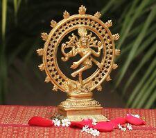 Hindu Lord Shiva Nataraja Lord of Dance Full Metal Brass Statue Figure